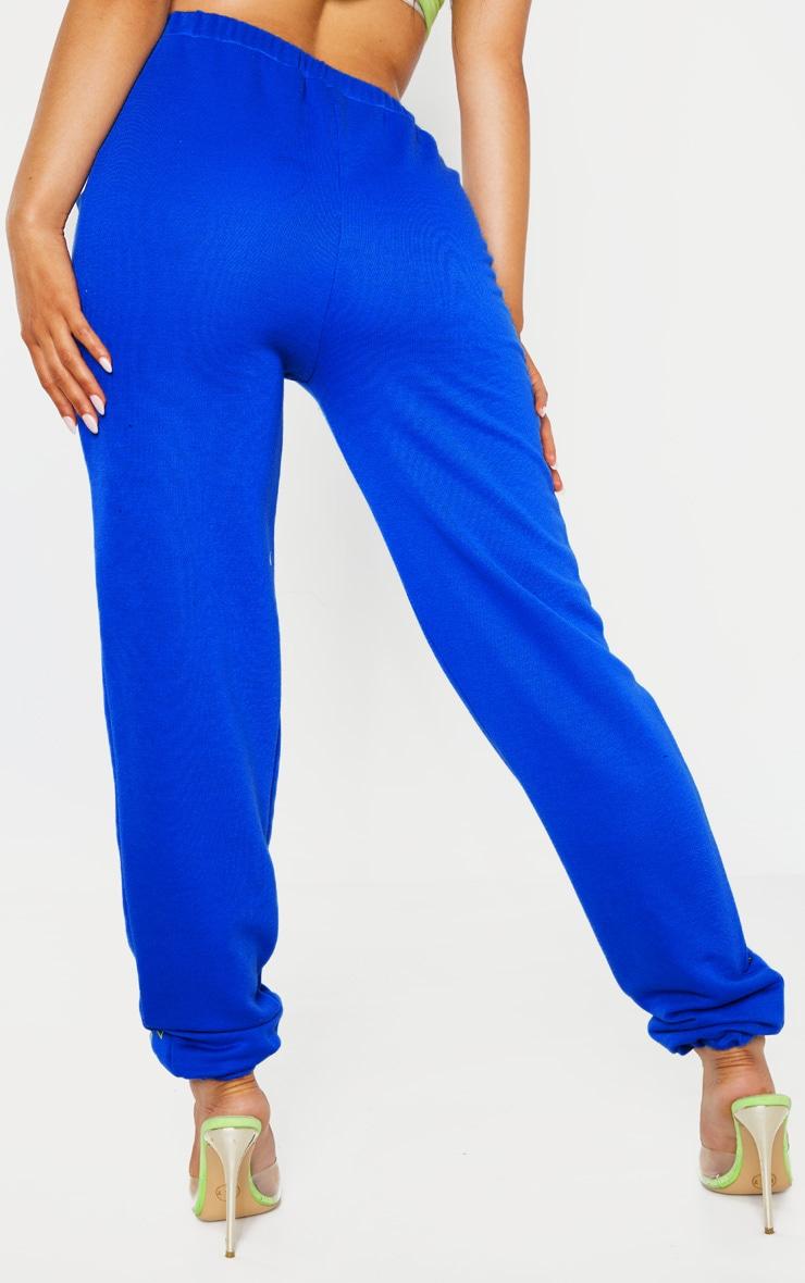 PRETTYLITTLETHING Petite Cobalt Printed Track Pants 3