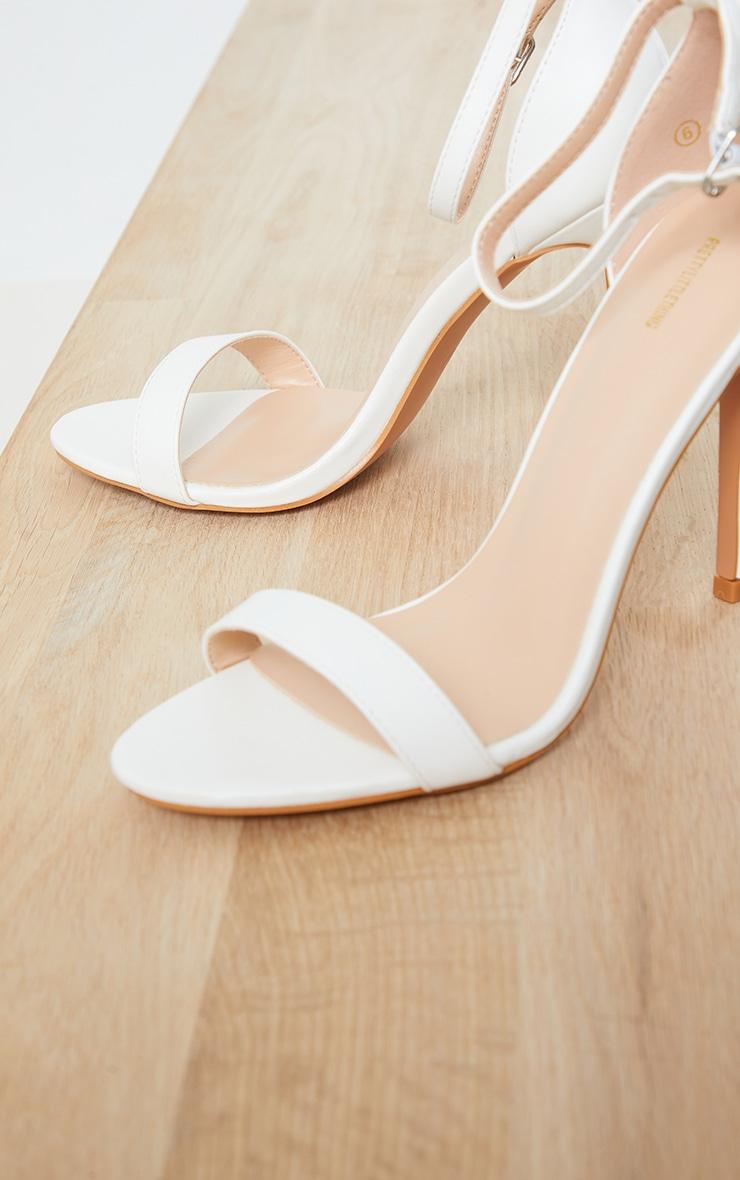 Clover White Strap Heeled Sandals 4