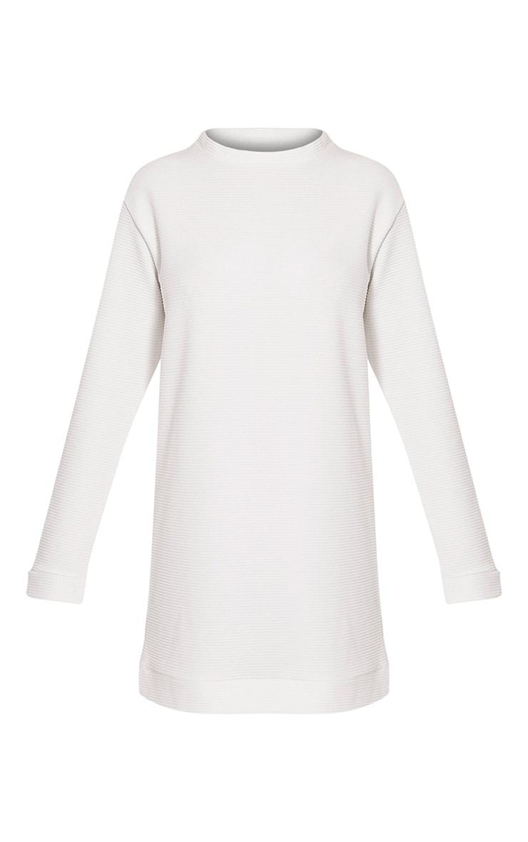 Melonie Cream Ribbed Longline Sweater 3