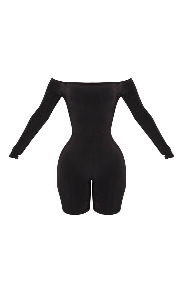 Shape Black Bardot Slinky Unitard 3