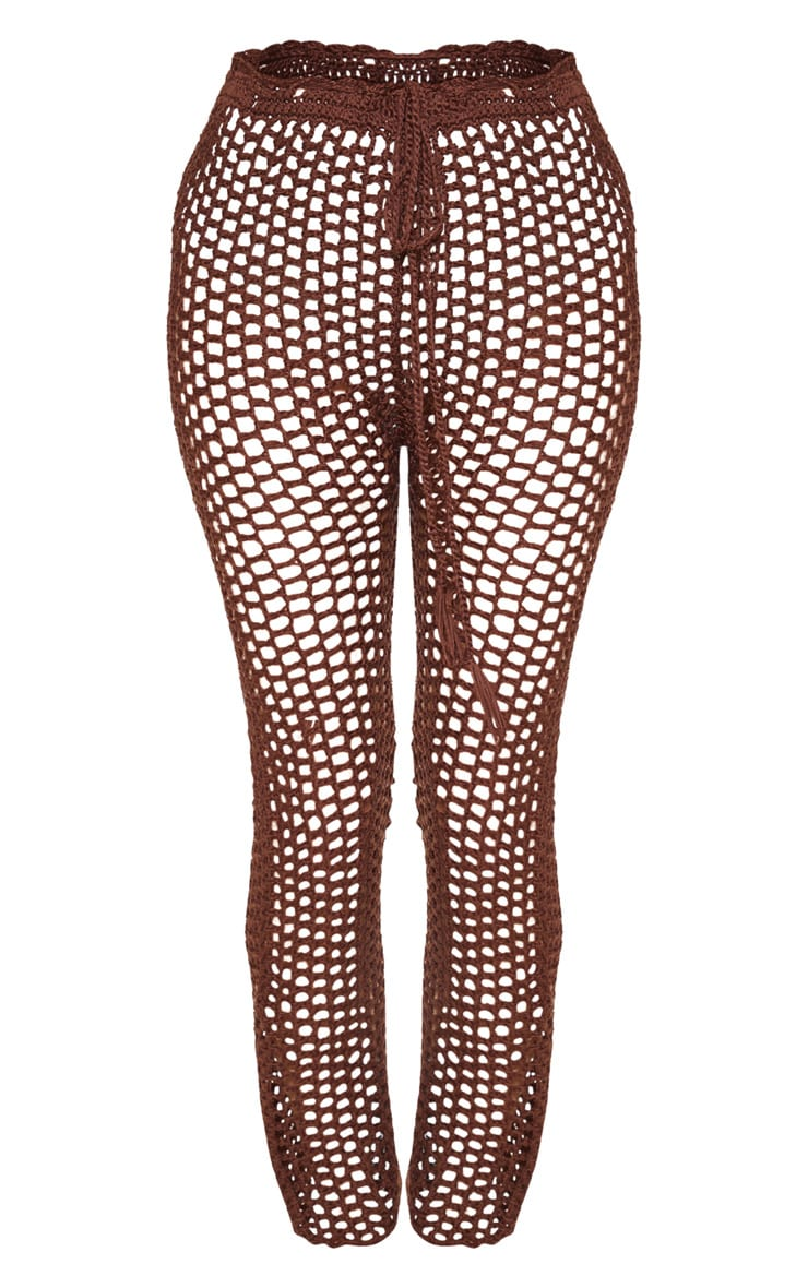 Chocolate Crochet Pants 3