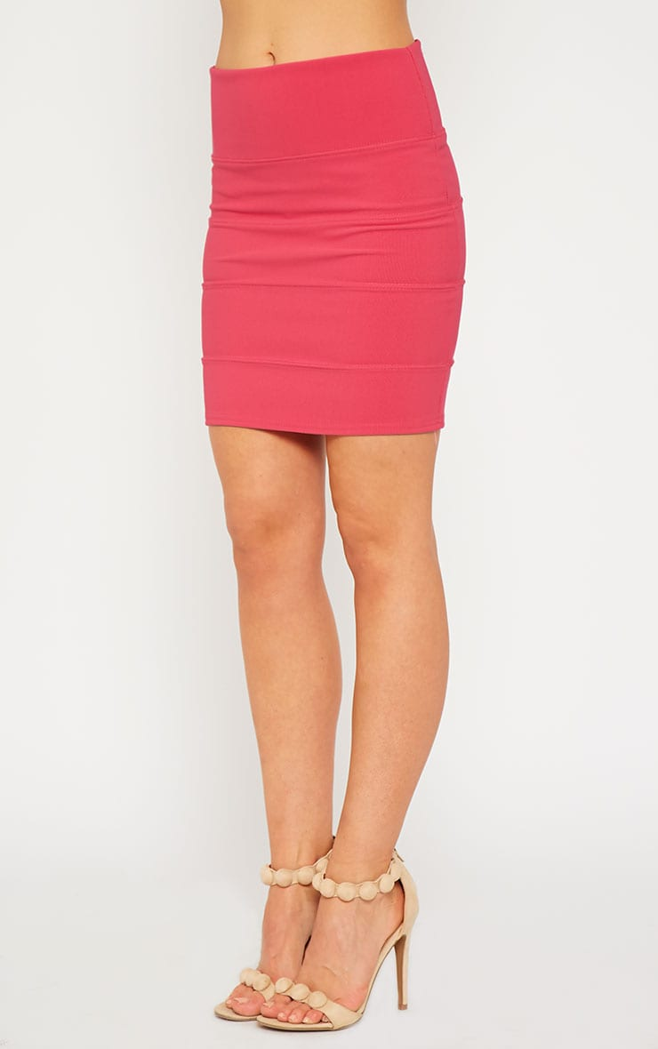 Anel Pink Bandage Mini Skirt 3
