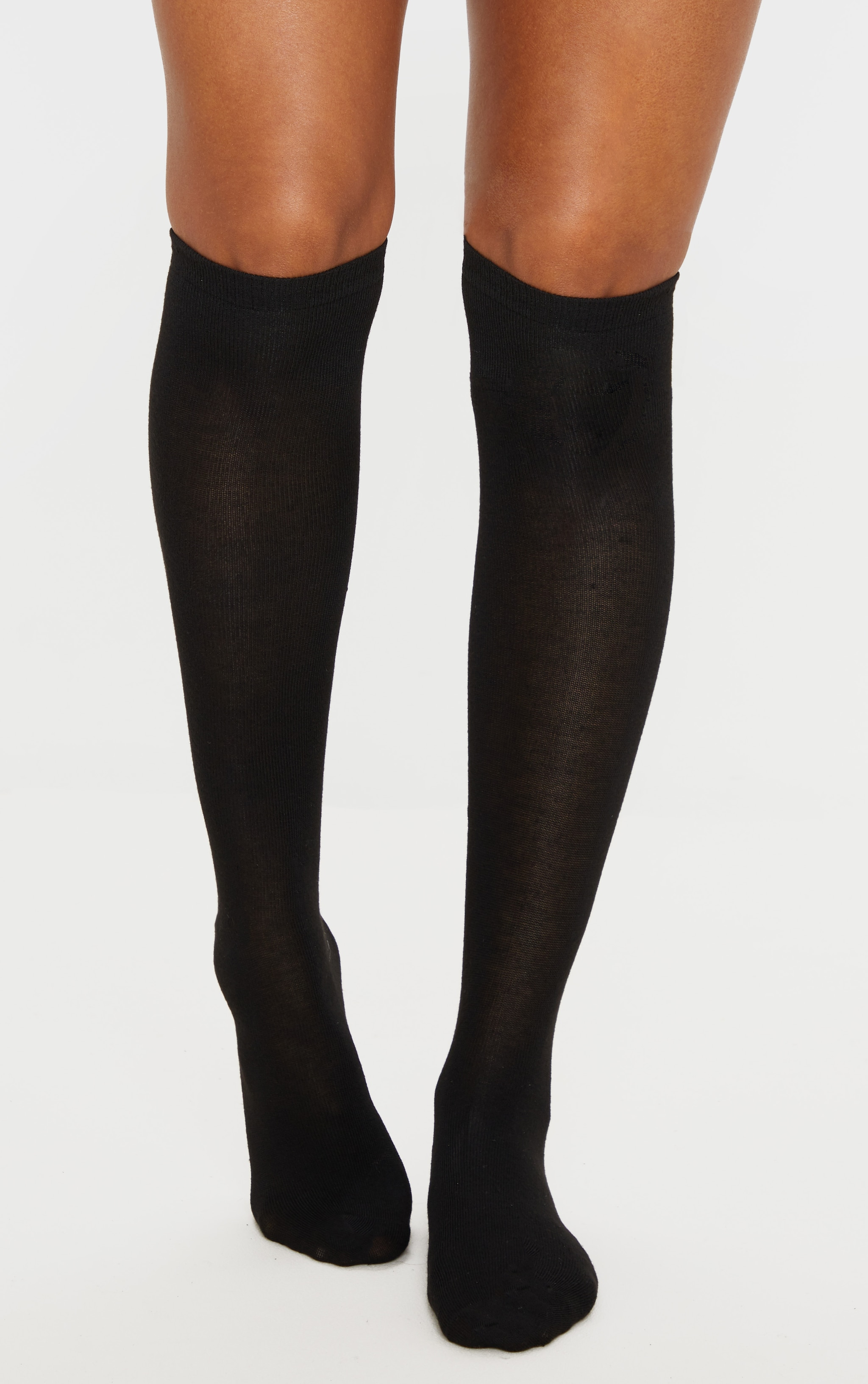 Black Over The Knee Socks Three Pack 1