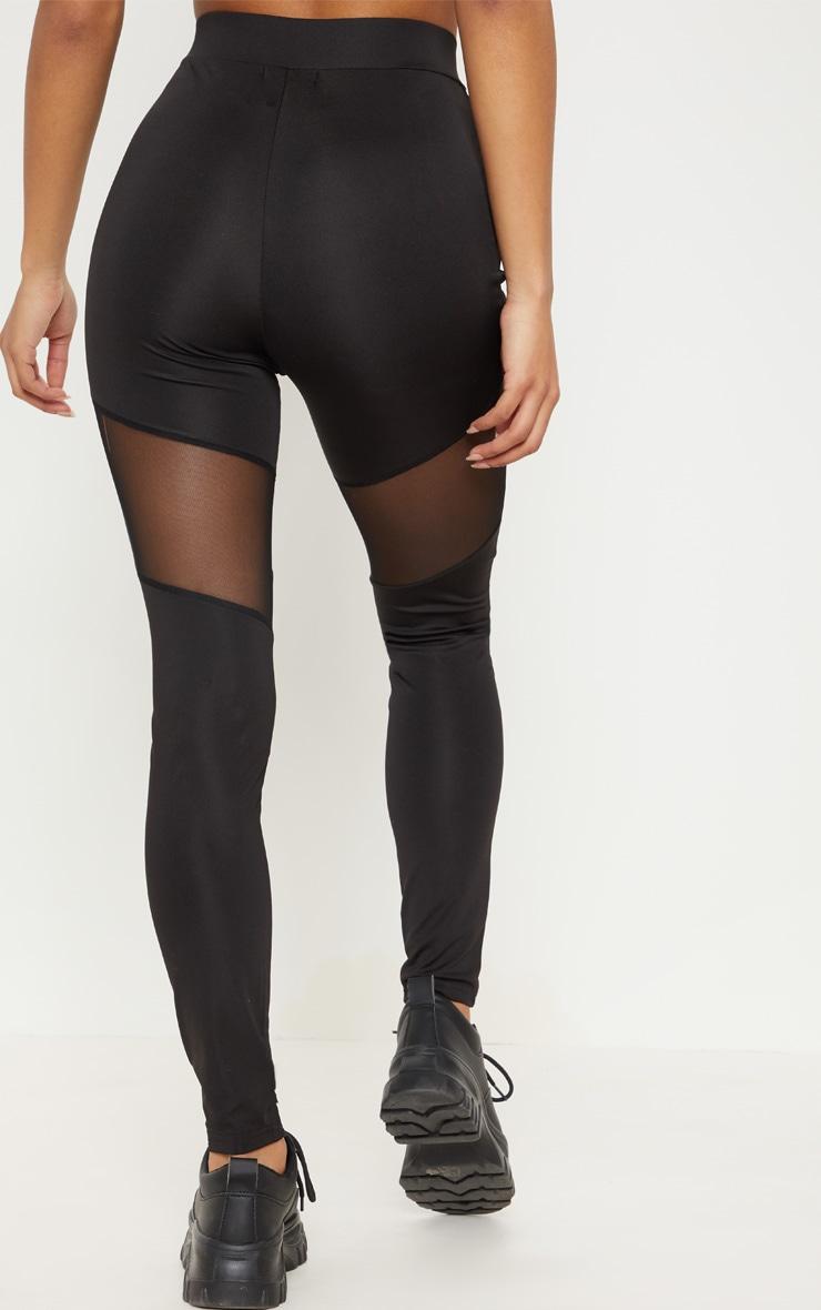 online selected material shop for best Black Mesh Thigh Gym Legging