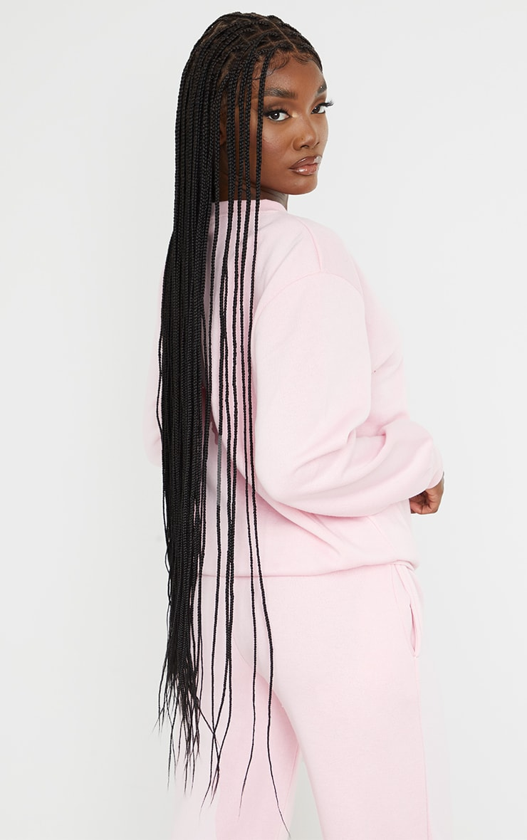 PRETTYLITTLETHING Tall Pink Studio Oversized Sweater 2