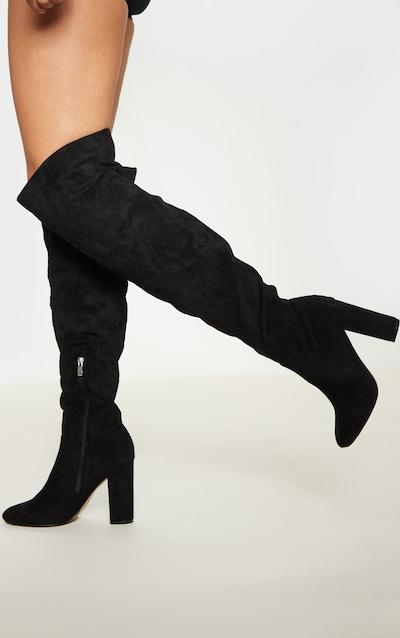 Black Over The Knee Behati Boot