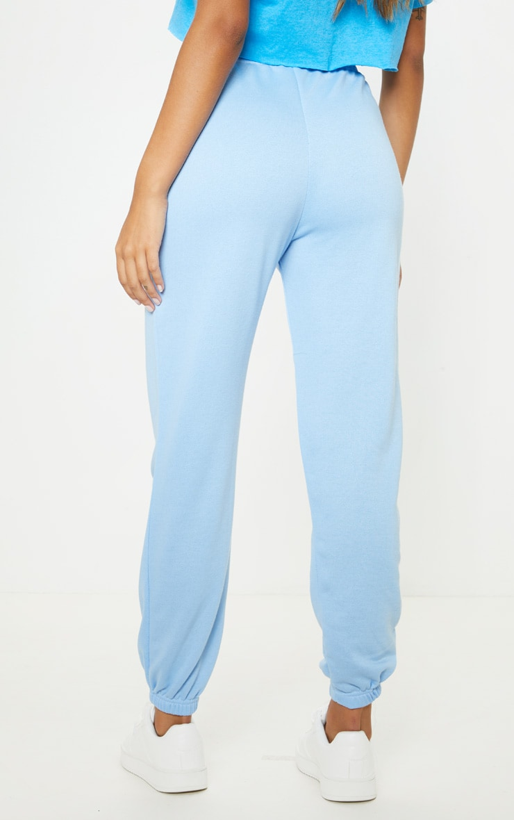 Baby Blue Basic Cuffed Hem Jogger 4