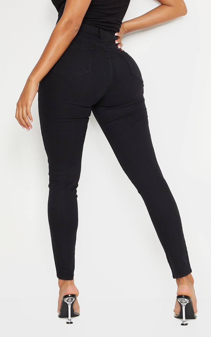 Shape Black Extreme Distressed Stretch Skinny Jean 3