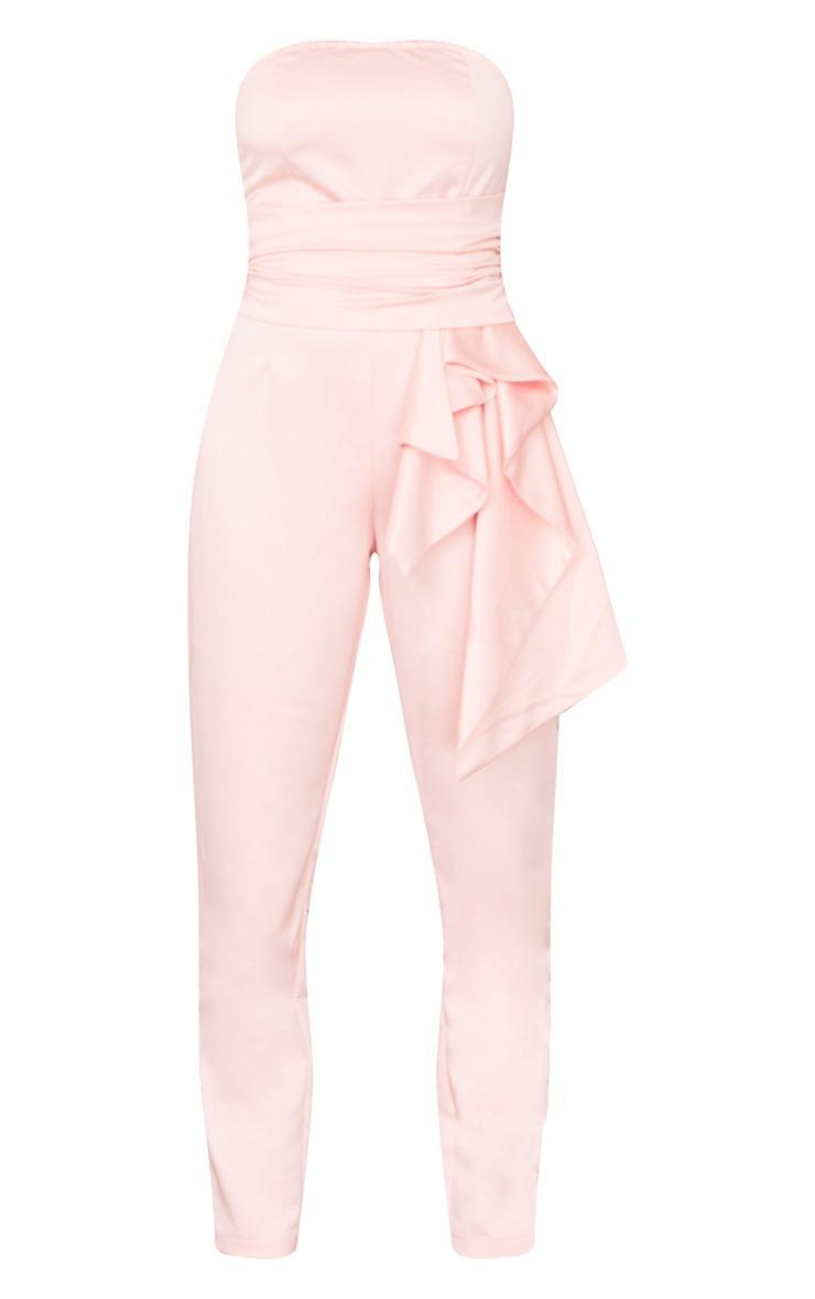 Baby Pink Drape Waist Detail Bandeau Jumpsuit 6