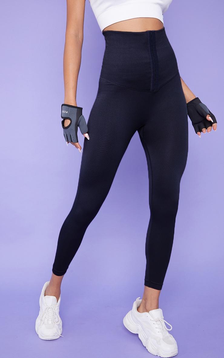 Black Waist Trainer Gym Leggings 2