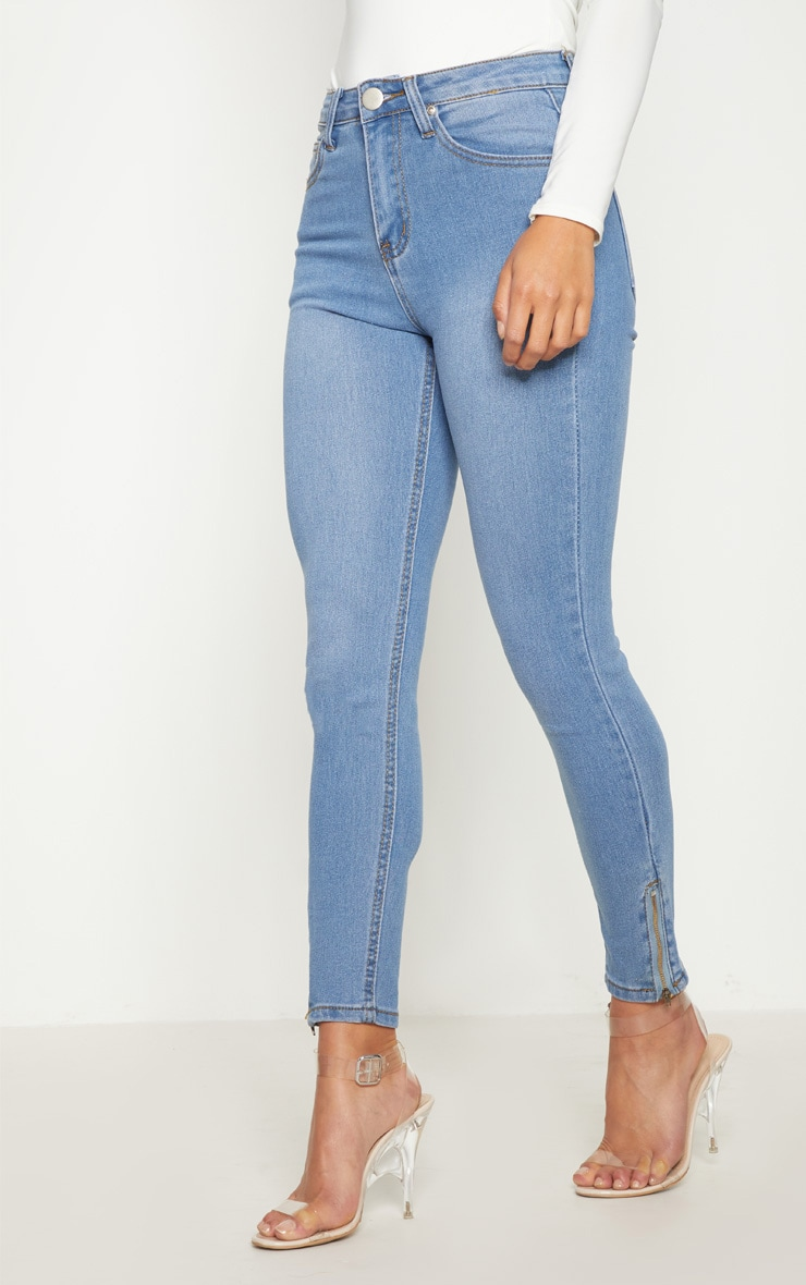 Petite Light Wash Ankle Grazer Skinny Jean 2