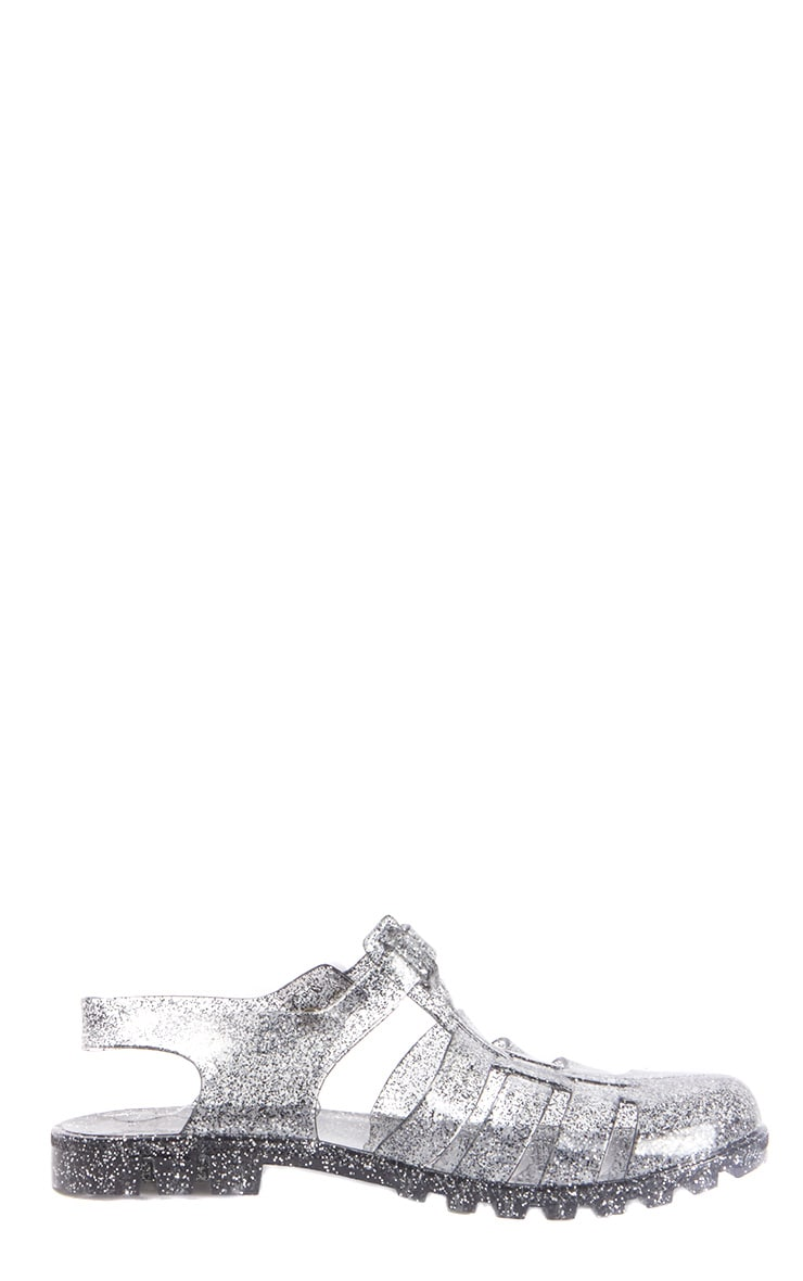 Raida Glitter Flat Jelly Sandal 4