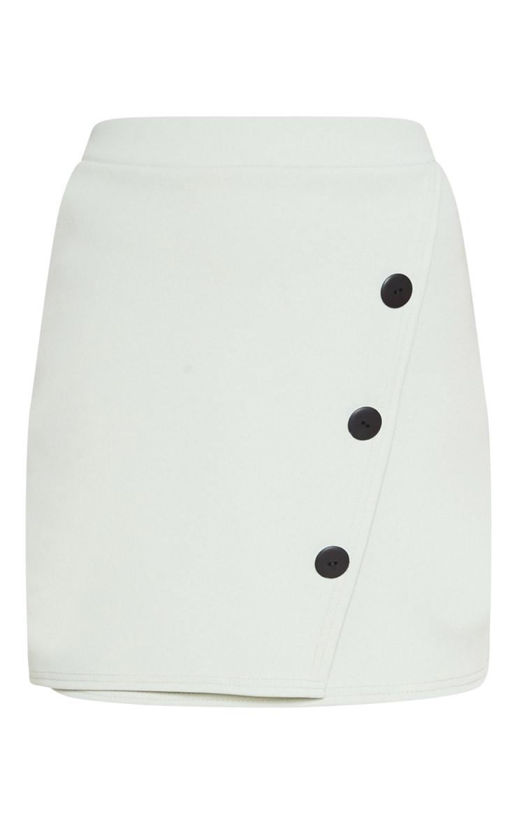 Sage Button Skirt 3