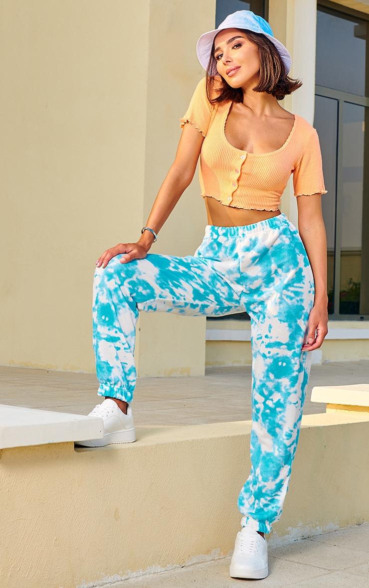 Pantalon de jogging tie & dye bleu casual 1