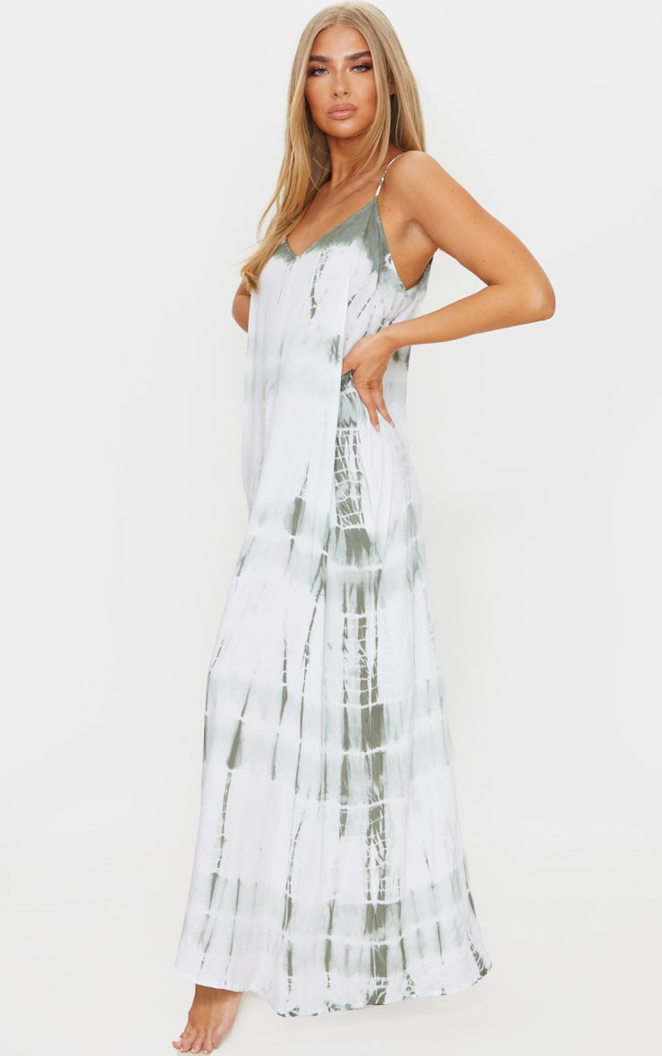 Olive Tie Dye Maxi Beach Dress 3