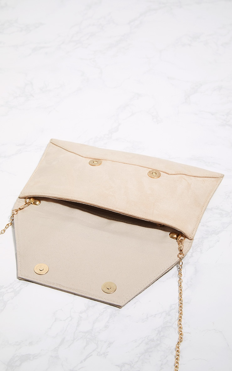 Nude Envelope Clutch Bag 4