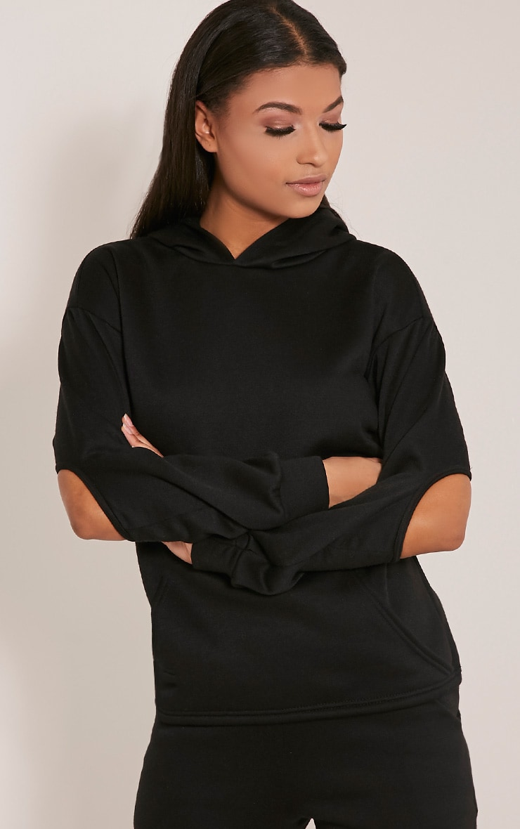 Dionne Black Slit Elbow Sweater 1