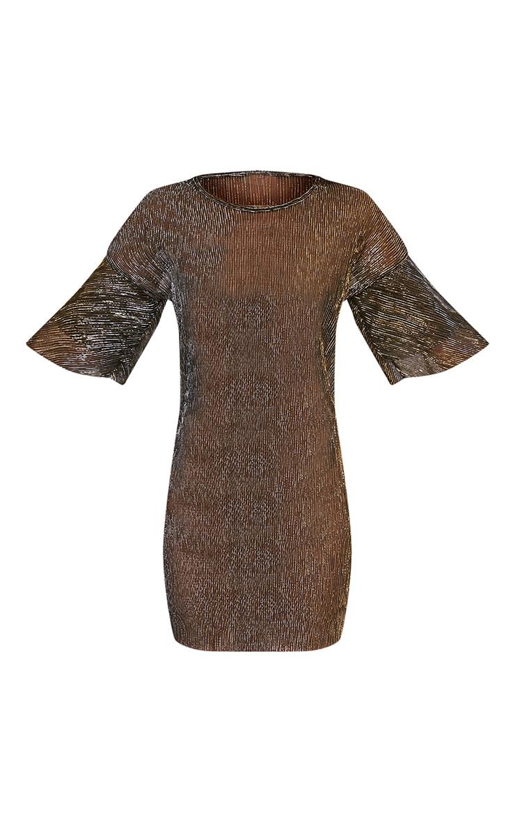 Savanah Black Pleated Glitter T-Shirt Dress 3