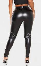 Shape Black PU Panelled Pants  4