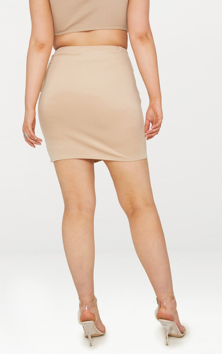 Plus Stone Basic Mini Split Front Skirt 4