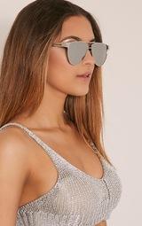 Galice Silver Frame Sunglasses 1