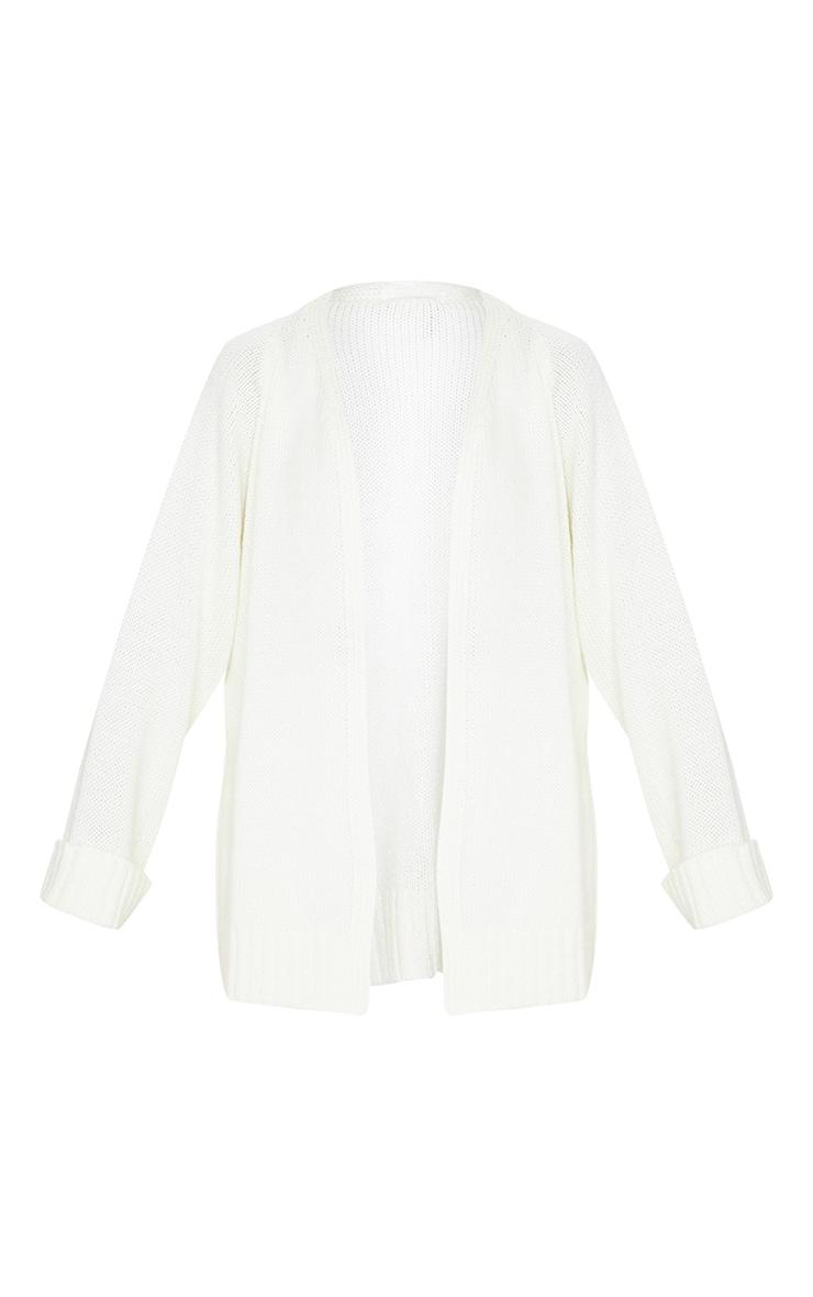 Cream Fluffy Knit Cardigan 5