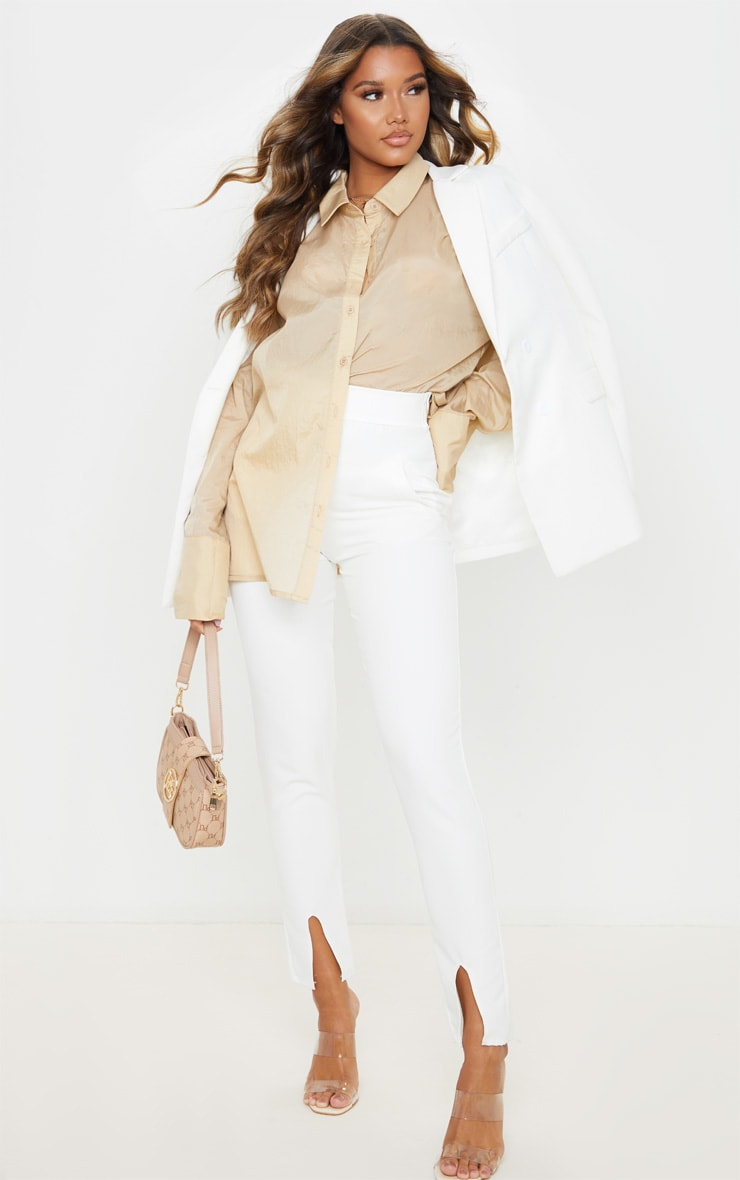 Sand Sheer Oversized Cuff Shirt 4