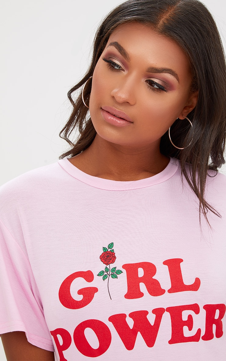 Pink Girl Power T Shirt Dress 5