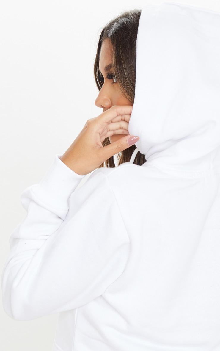 Hoodie en polaire blanche 5