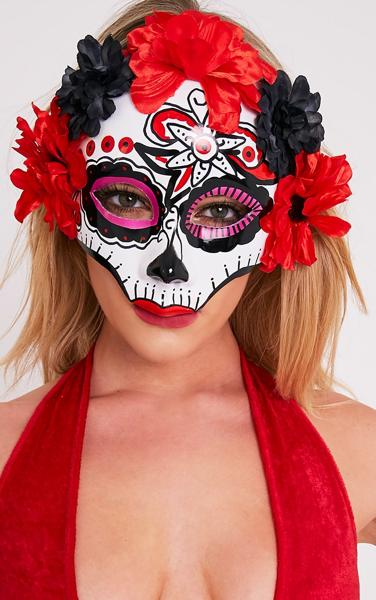 Day Of The Dead Sugar Skull Mask 1