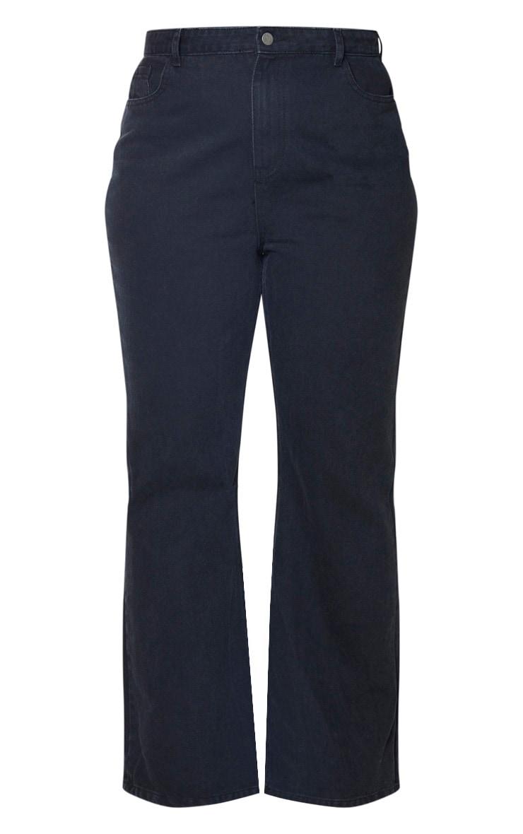 Plus Black High Waist Flared Jeans 3