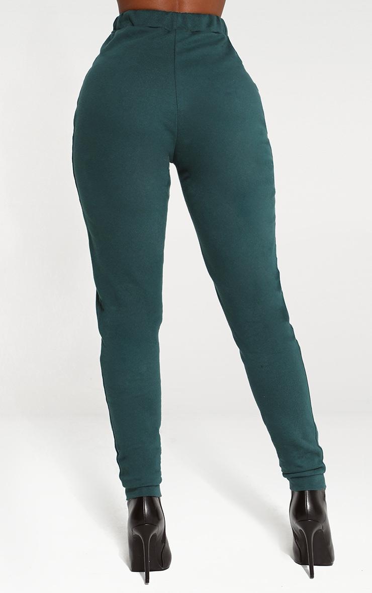 Shape Emerald Green Elastic Bottom Joggers 4
