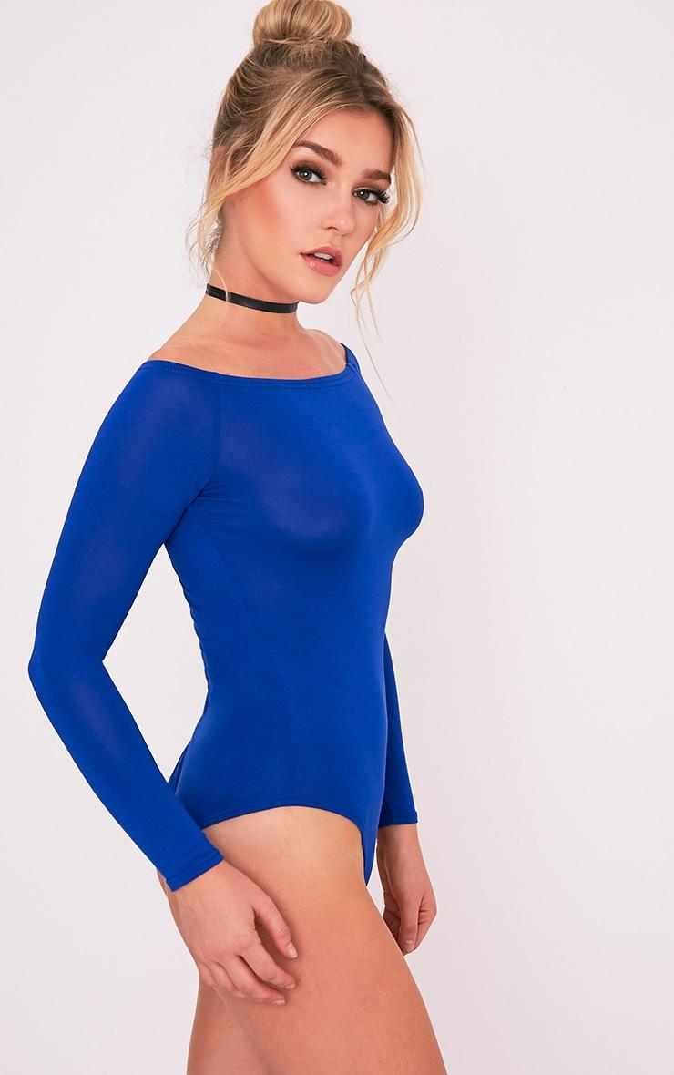Basic Cobalt Bardot Bodysuit 6