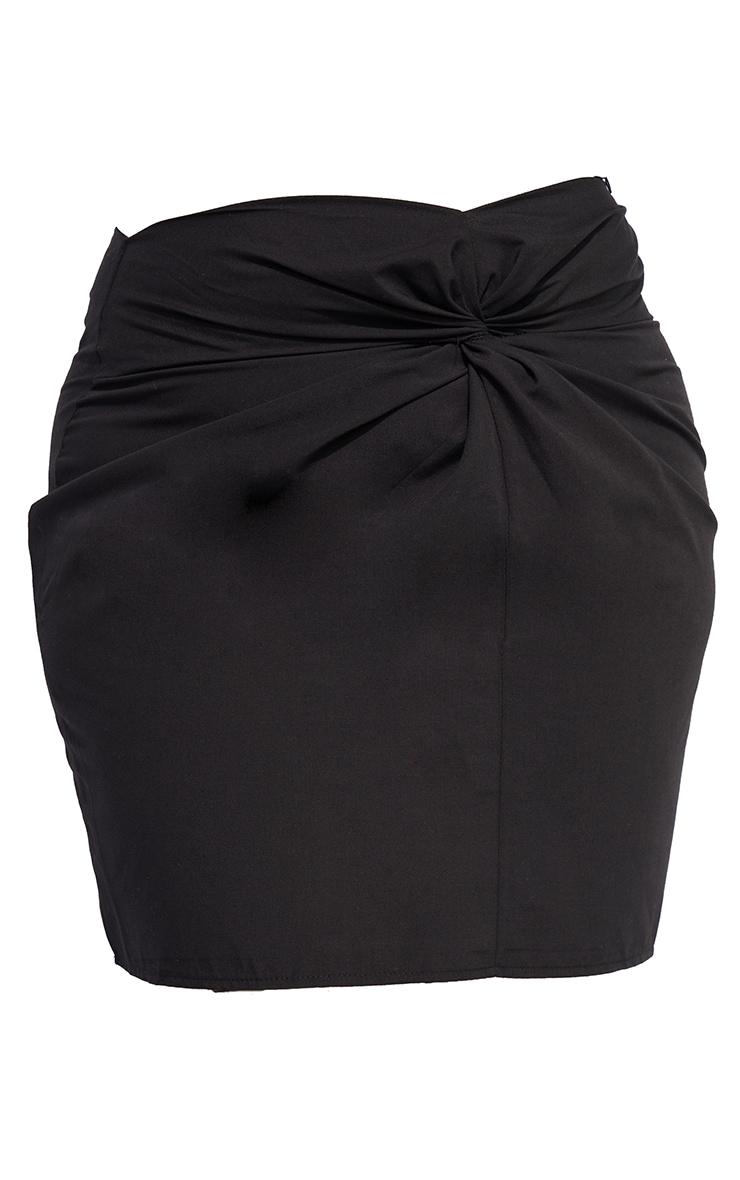 Plus Black Knot Front Skirt 6