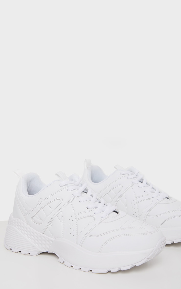 White Bobble Sole Sporty Chunky Sneaker 3