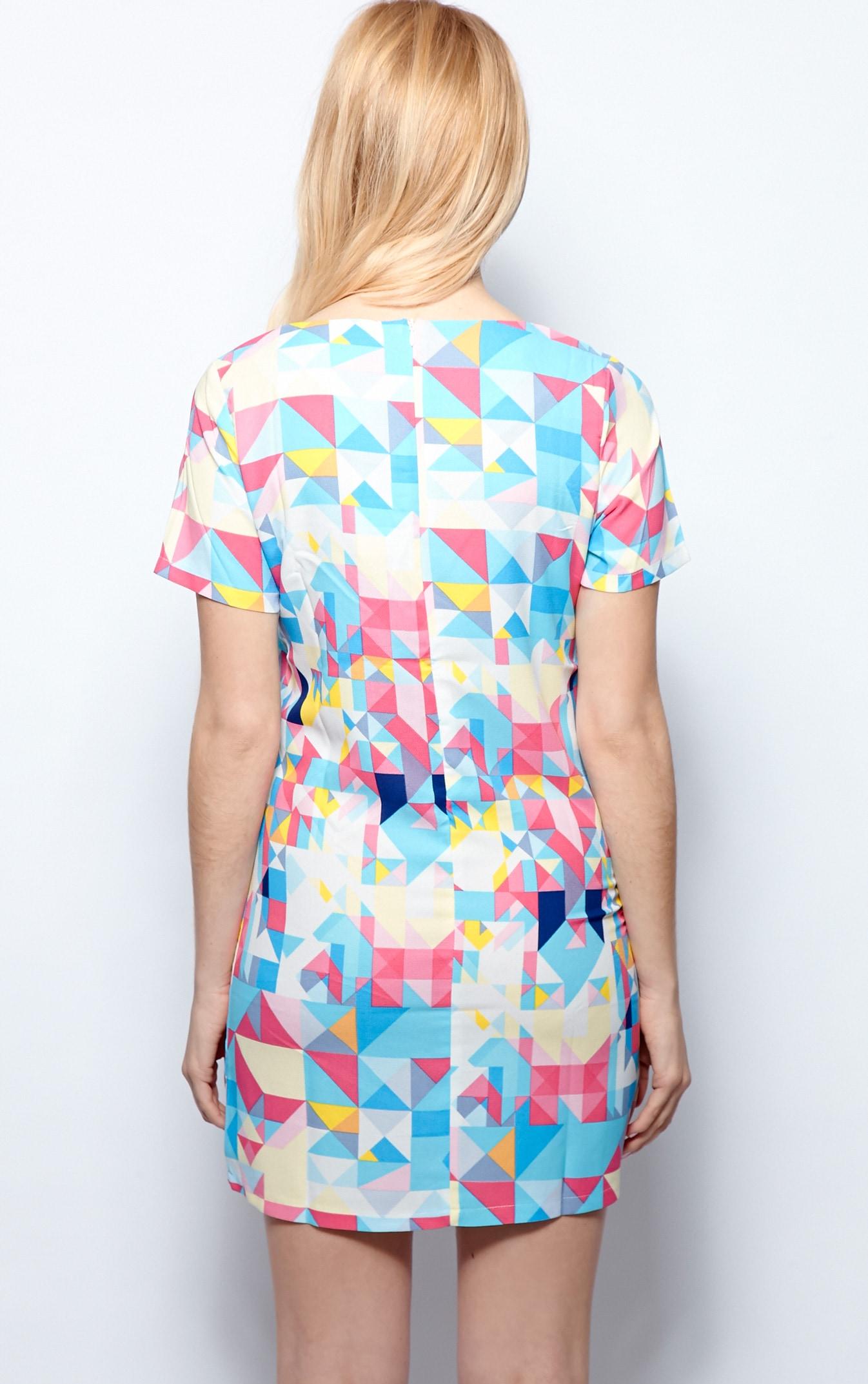 Daniela Blue Abstract Print Shift Dress 2