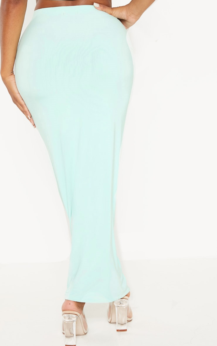 Shape Mint Green Slinky Longline Midaxi Skirt 4