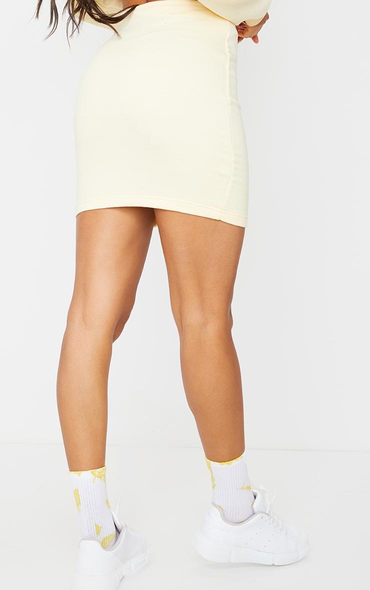 Cream Button Front Sweat Mini Skirt 3