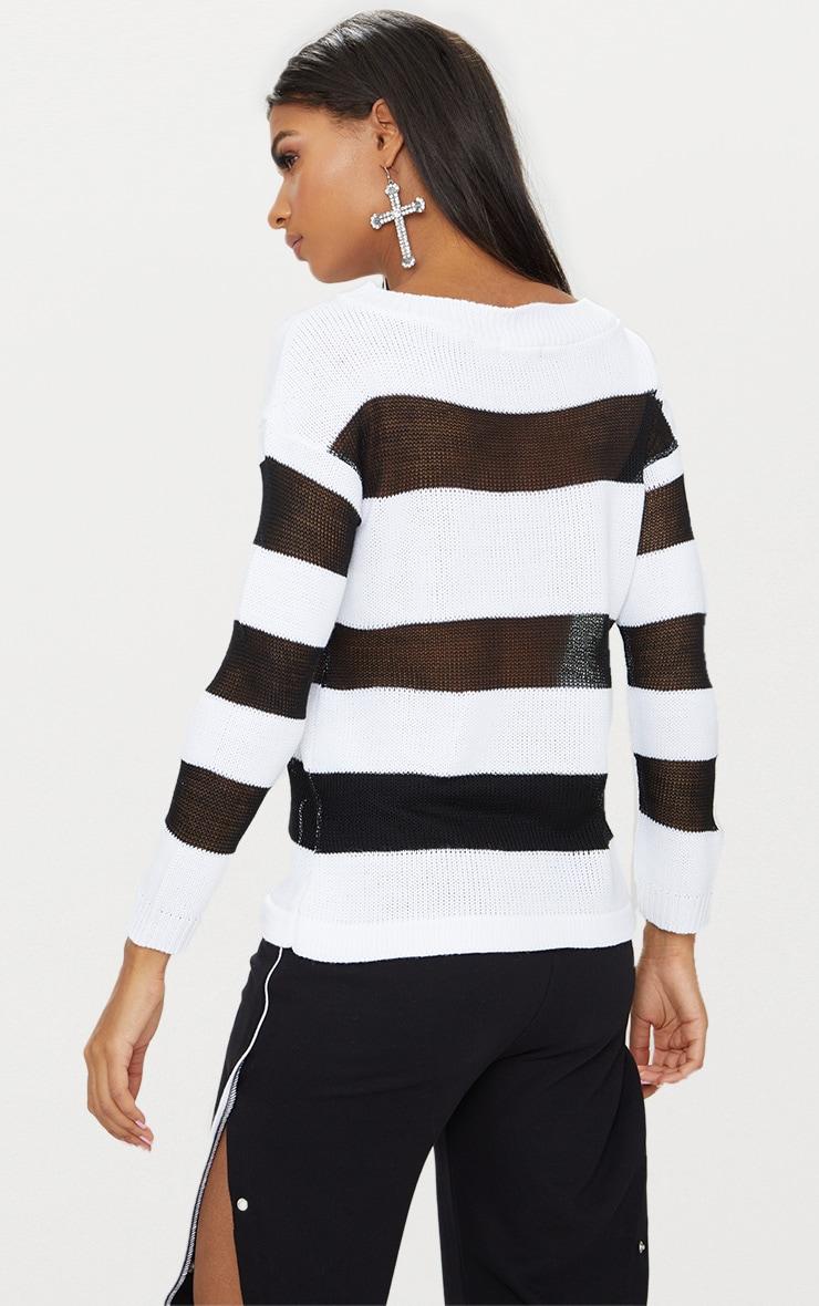 Black Sheer Stripe Jumper 2