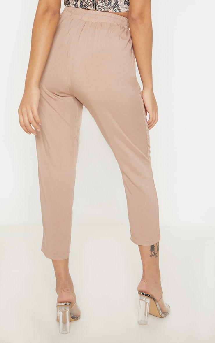 Petite Camel Casual Trousers 4