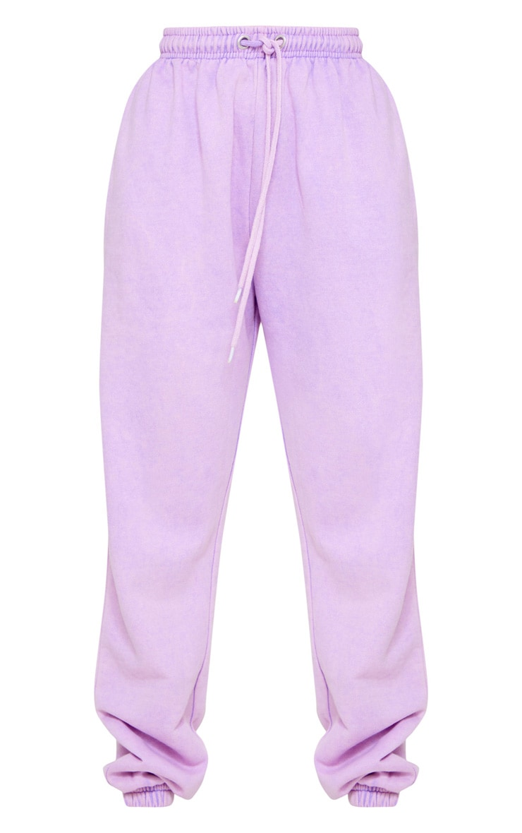 Petite Washed Purple Joggers 5