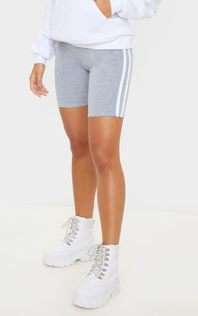 Grey Double Side Stripe Cycle Short