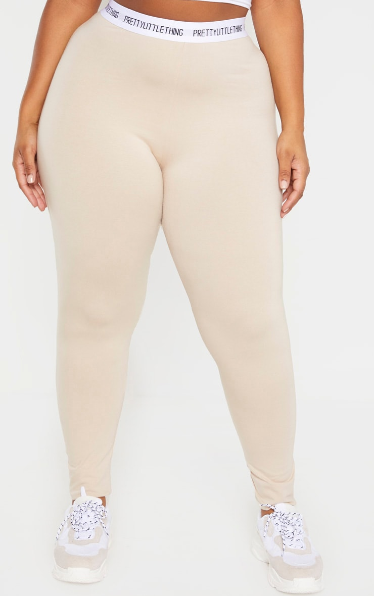 PLT Plus - Legging gris pierre PRETTYLITTLETHING 2
