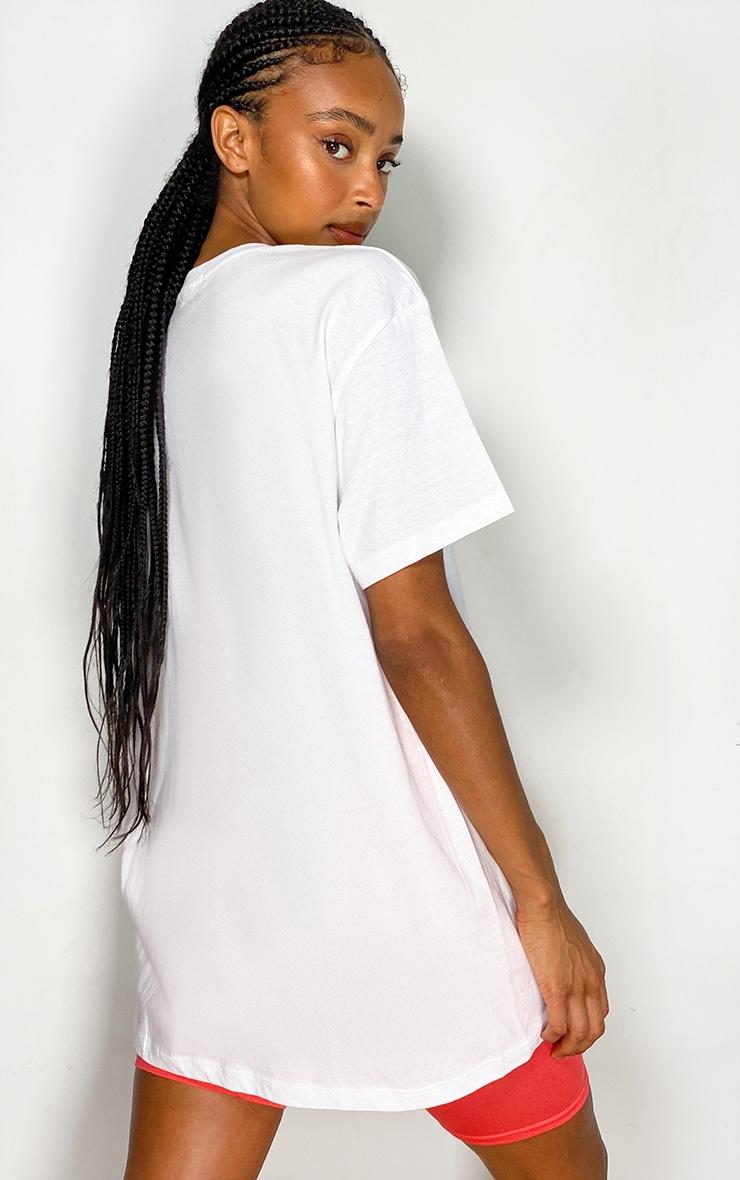 White Printed T Shirt 2