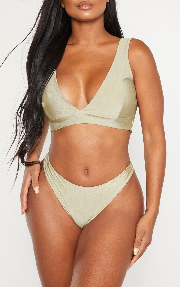 Shape Sage Green Brazilian Thong Bikini Bottom 1