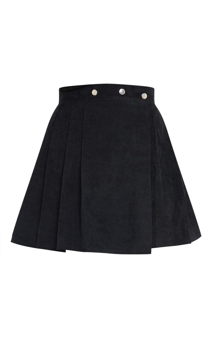 Black Cord Skater Skirt 3