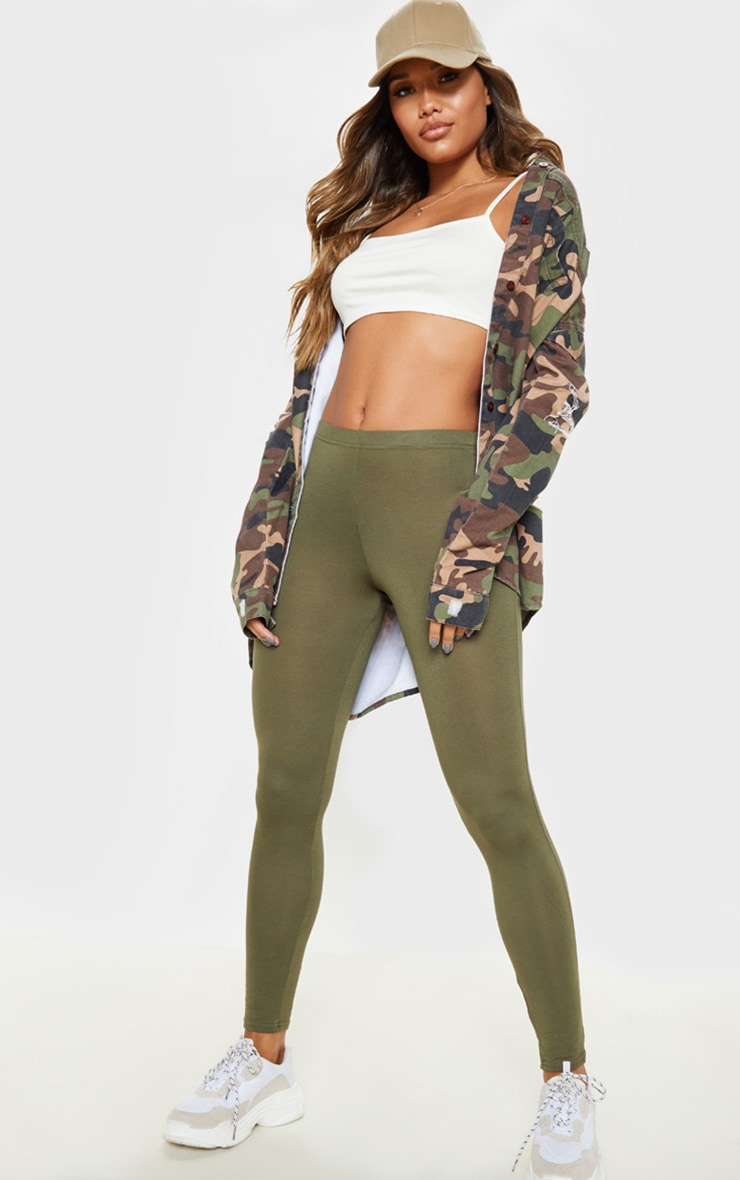 Basic Khaki Leggings 1