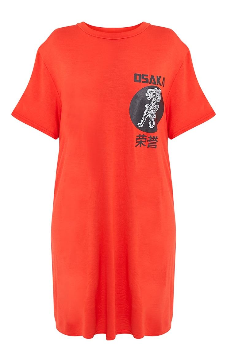 Osaka Orange Tiger T  Shirt Dress 3