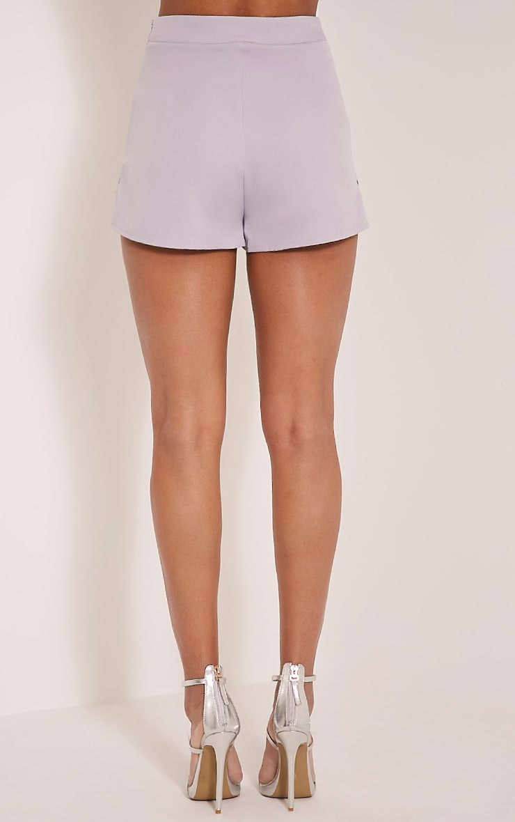 Angie Grey Floral Embroidered Shorts 5