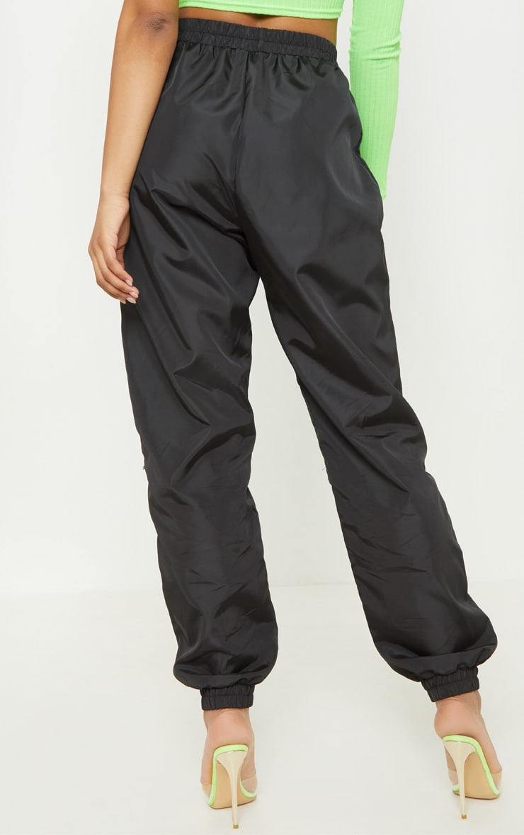 Tall Black Cargo Zip Pocket Detail Pants 4